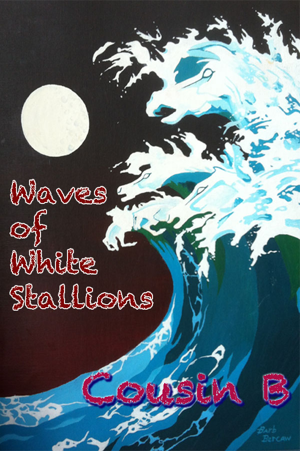 waves of white stallions